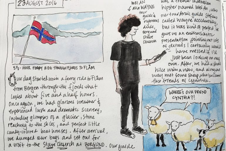 Hiking Norway's Fjord Country:A Travel Sketchbook
