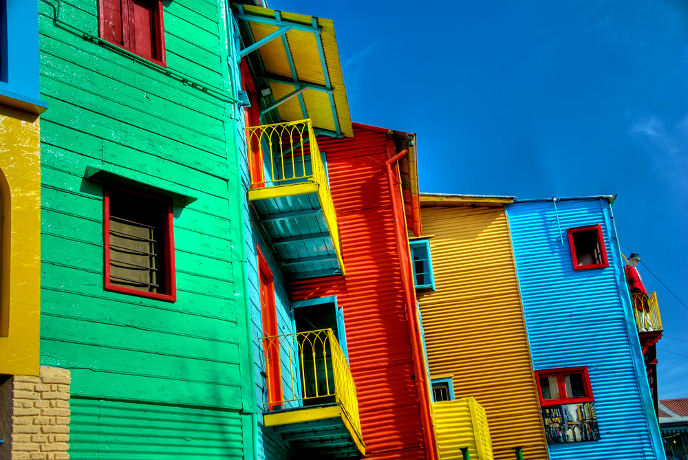 The artists' neighborhood of La Boca is a great place to find street art.