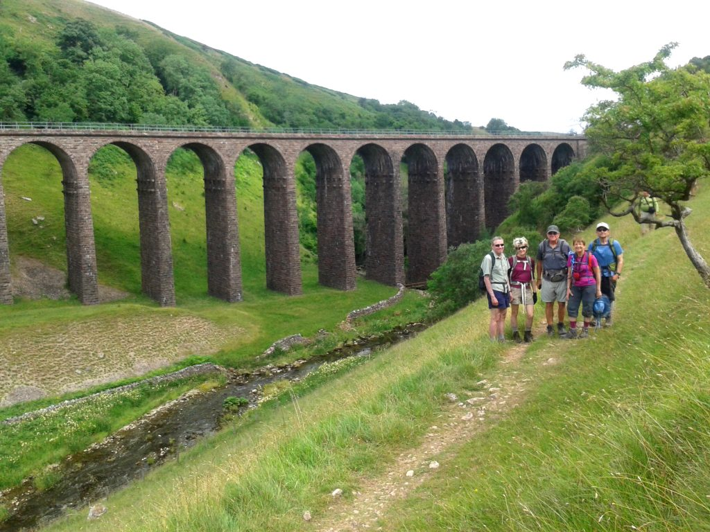 Smardale Viaduct, constructed in 1861 as part of the old railway