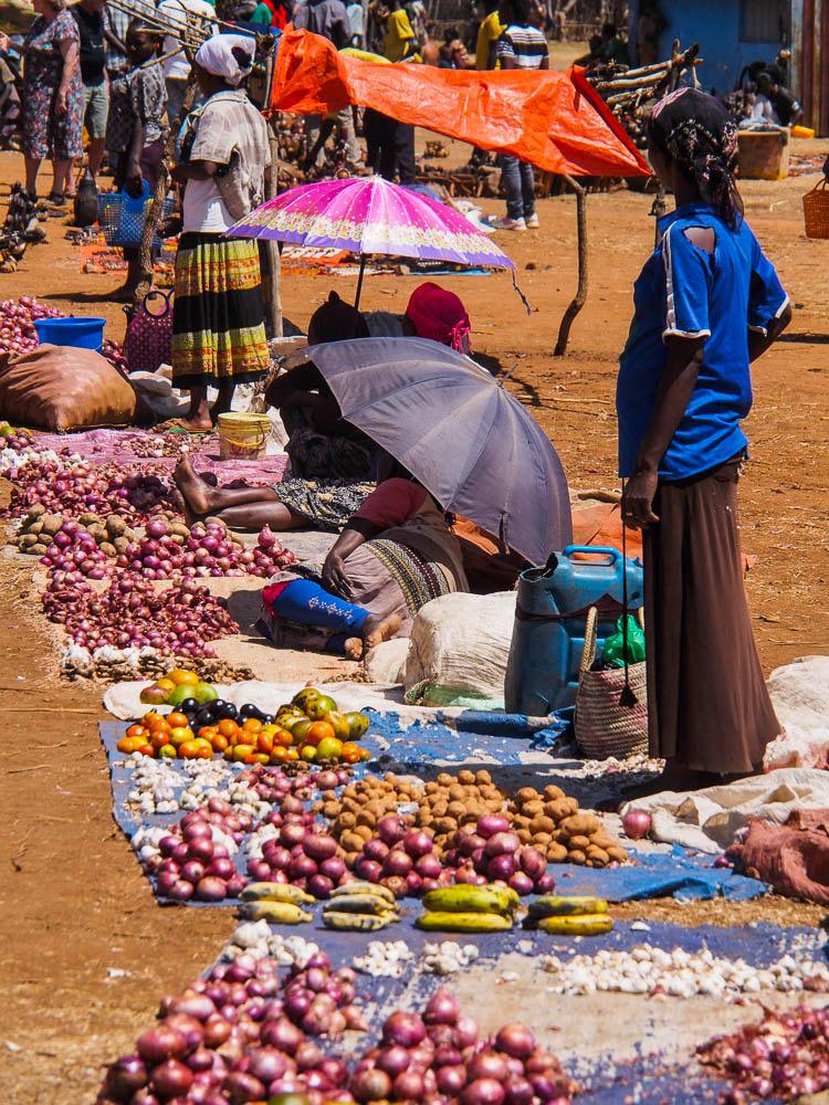 Key Afar market scene