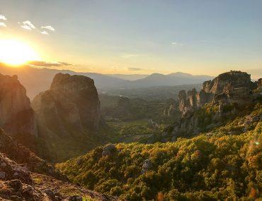 Sunset over Zagoria in Greece